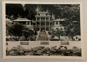 mpl04 Vintage Black and White Real Photo of Perak Tong Temple, Ipoh Malaysia