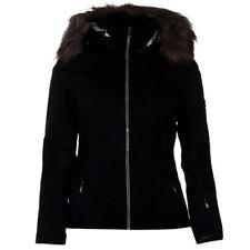 BNWT Nevica Flow Fur Hood Black Ski Jacket Coat Ladies Womens Size Small UK 10