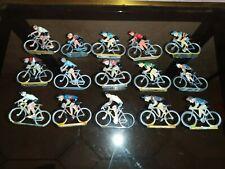 Lot 15 coureurs Cycliste Cofalu Salza Aludo Roger Jouet Ancien métal tour france