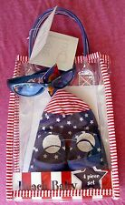 MAYFAIR BEACH BABY 4-PIECE GIFT SET - HAT SUNGLASSES SANDALS TOTE- STARS & POOH