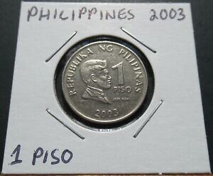 Philippines 1 Piso 2003 Coin in 2x2 Flip A0213