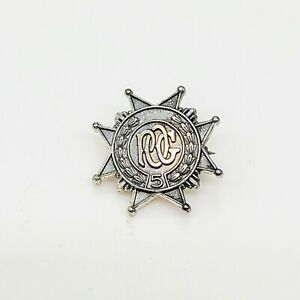 Vintage sterling silver 925 ROC lapel pin, spiked, unisex, men's  Stamped, gift