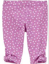 Gymboree PINWHEEL PASTELS purple dot capri leggings size 6-12 months NWT