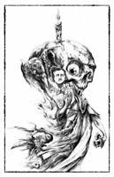 Edgar Allan Poe Raven Poetry Poet Art Dark Scary Creepy Artwork Poster 11x17