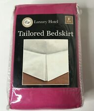 "Luxury Hotel Pink Tailored Bed Skirt Full 54"" x 75"" New"