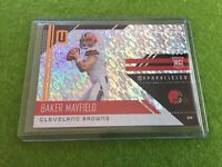 BAKER MAYFIELD ROOKIE CARD PRIZM REFRACTOR 2018 Panini UNPARALLELED Flight RC SP
