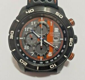 Citizen eco-drive mens wrist watch tested working orange