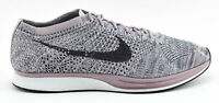MENS NIKE FLYKNIT RACER RUNNING SHOES SIZE 12 LAVENDER PURPLE WHITE 526628 500