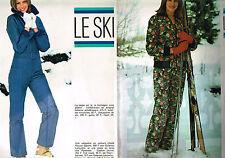 PUBLICITE  1973    VETEMENTS  SKI  ( 6 modèles)