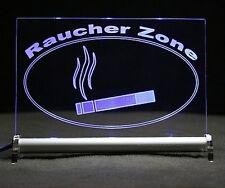 Raucher - Zone LED- LEUCHTSCHILD Barschild - LED beleuchtet  - Raucherschild