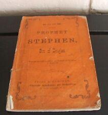 Lincoln satire 1863 -  Book of the Prophet Stephen, Son of Douglas