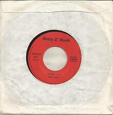 BETTY Z' BOOB Le sud RARE FRENCH ROCK 7""