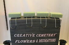 4 Regular Memorial Cemetery Flower Headstone/Tombstone Saddle With Floral Foam