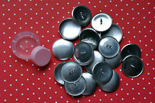 25 X Self Cover Metal Shank Back Buttons Size 45 (28mm) Tool