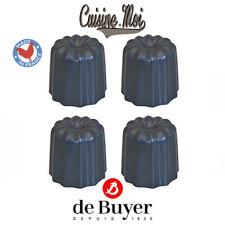 De Buyer - Lot de 4 moules à canelé individuels en acier revétu antiadhésif NEUF