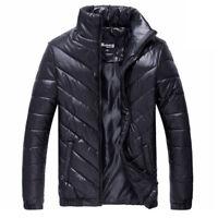Men Ultralight Jacket Coat Down Puffer Packable Warm Hooded Outwear Duck Parka