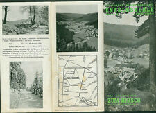 Travel Brochure Gasthof zum Hirsch enzklösterle in Wildbad Bes. Willi Mast 1950e.