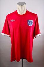 England Trikot Gr. 46 XXL Umbro Jersey 2010 WM EM Away rot 3 Lions Shirt