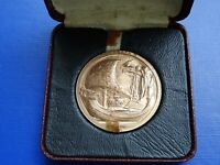 Elizabeth II Coronation Bronze Medal Cased 2nd June 1953~Royal Barge Reverse