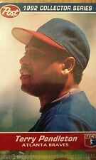 1992 Post Collectors Series Card Terry Pendleton #22, Atlanta Braves