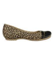 NEW Women's Crocs Cap Toe Leopard Print Flats Shoes SZ 6 7 8 9 10 11