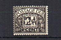 British Occ of Italian Cols Eritrea 1948 20c sur GB Postage Due no stop var MH