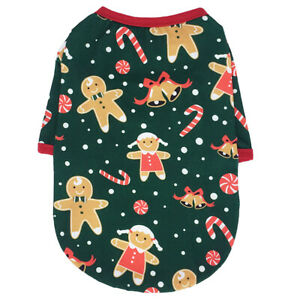 Pet Dog Xmas Snowman Elk Printed Breathable Fashion Classic O-neck Casual Tops