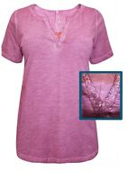 Womens Pink Sequin Embellished Top 14/16 Plus Size 18/20 22/24 26/28 30/32 New