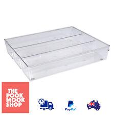 Flatware Storage Cutlery Tray Clear Organizer Drawer Utensil, Silverware, Holder