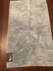 "hotel collection 27"" X 44"" Spa Blue Micro Cotton Bath Rug"