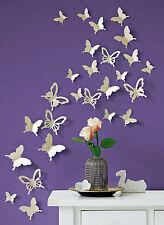 3D Deko Schmetterlinge 26-tlg Wanddekoration Wandtattoo Deko