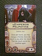 STAR WARS X-WING MINIATURES EMPEROR PALPATINE CREW UPGRADE CARD
