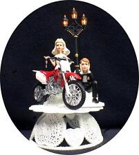 SEXY Off Road Dirt Bike Motorcycle wedding Cake topper Honda racing with light