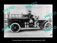 OLD 8x6 HISTORIC PHOTO OF NEWNAN GEORGIA THE FIRE DEPARTMENT TRUCK c1920