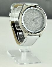 NUOVA elegante 100% originale Ladies Watch GUESS argento in pelle donna u0652l1