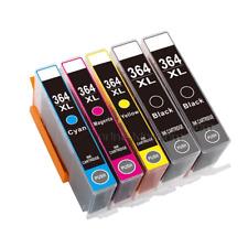 5 Ink Cartridges for HP 364 XL Photosmart 5510 5515 5520 5524 6510 C6380 Printer