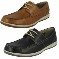 Clarks Leather Upper Blue Casual Shoes for Men