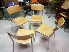 René Herbst - Série de 4 chaises - design vintage chairs 50'S