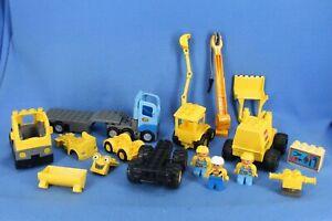 Lego Duplo Lot of Semi Trailer Construction Skip Dump Work Trucks