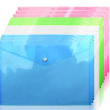 More details for 12/24/36/48pcs a4 plastic stud document wallets folders filing paper storage