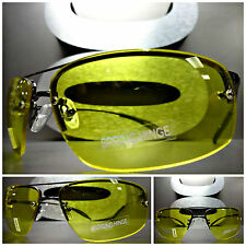 Men's DRIVING RIDING Day or Night High Definition Vision Yellow Lens SUN GLASSES