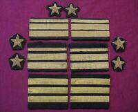 Set of 12 Navy Soviet USSR patches. Naval officer uniform 1960' s