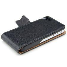 kwmobile Flip Schutz Hülle für Apple iPhone 4 4S Schwarz Tasche Kunstleder Case