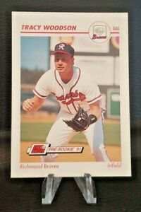 1991 Impel ⚾ Baseball #448 Tracy Woodson (Richmond Braves). VG/EX