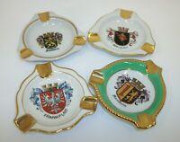 Assorted Lot 4 Vintage Bavaria Germany Crest Shield Individual Ashtrays