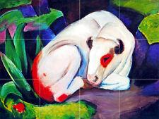 24 x 18 Art Tumbled Marble Backsplash Franz Marc Mural Tile #76