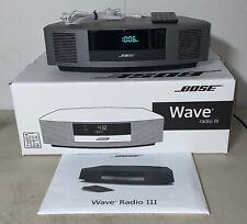 New listing Bose Wave Radio Iii Touch Top Am/Fm Aux Alarm w/ Remote Manual Original Box