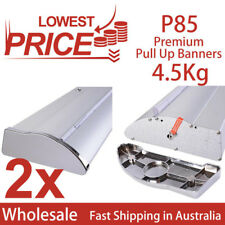 2x Premium Pull up,Roll up,Retractable banner stand display, no graphics P85