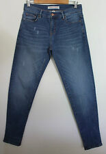 COUNTRY ROAD ~ Medium Blue Slim Fit Distressed Jeans w Copper Hardware ~ 6