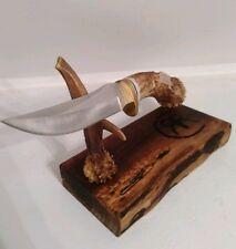 DEER ANTLER KNIFE! MEDIUM HUNTER! FREE SHIPPING! FREE SHEATH!!